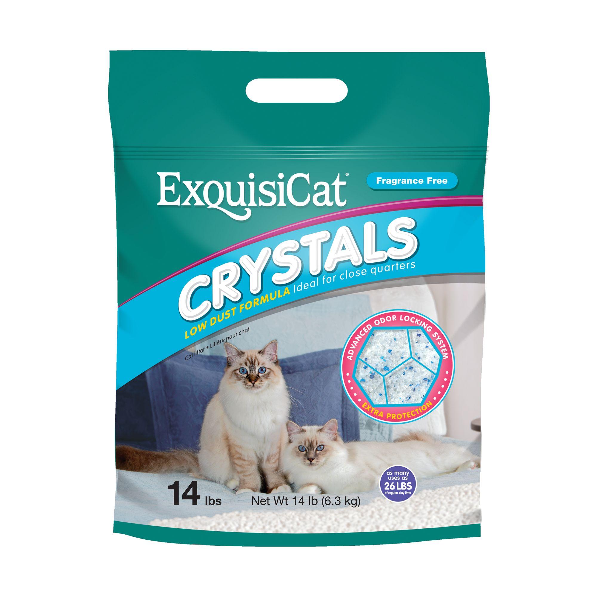 Exquisicat Crystals Low Dust Formula Fragrance Free Cat