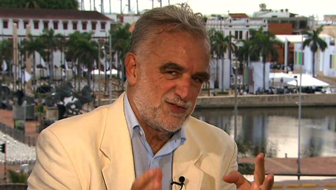 Luis Moreno Ocampo speaking to CNN a few hours before the signing of the peace agreement between the Colombian government and the FARC in Cartagena Colombia.