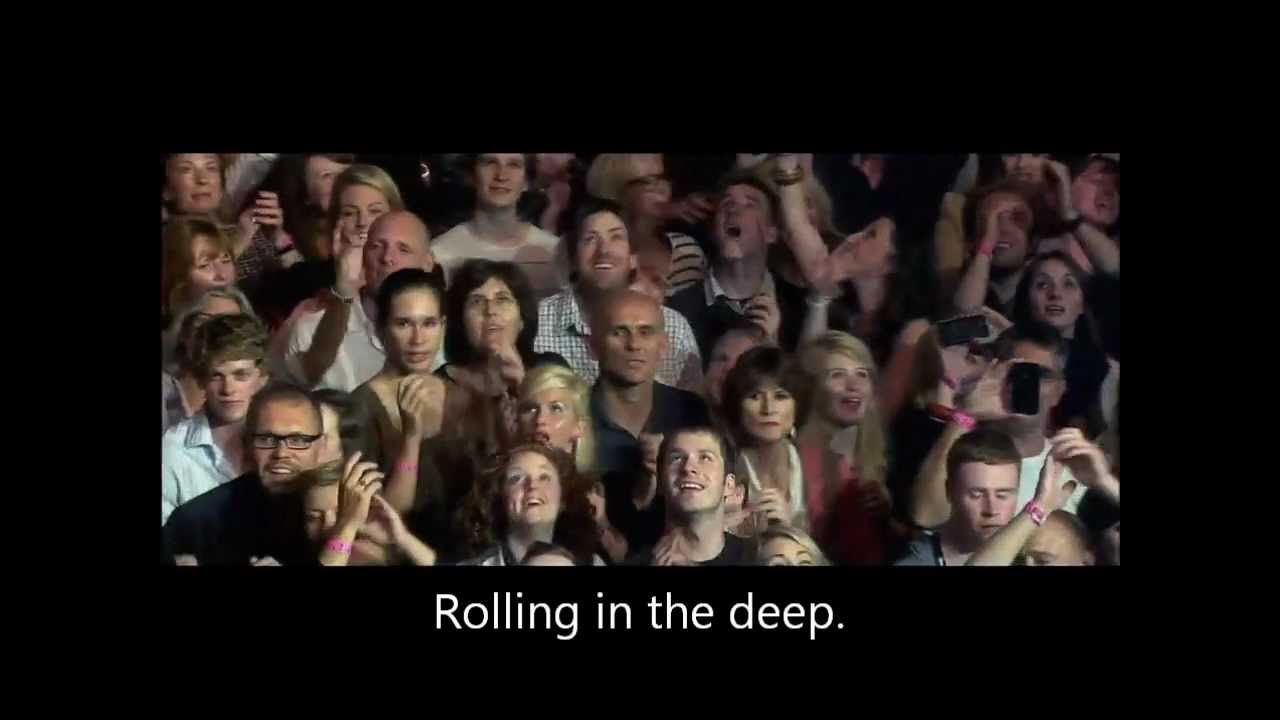 Adele ROLLING IN THE DEEP lyrics - LIVE at Royal Albert Hall