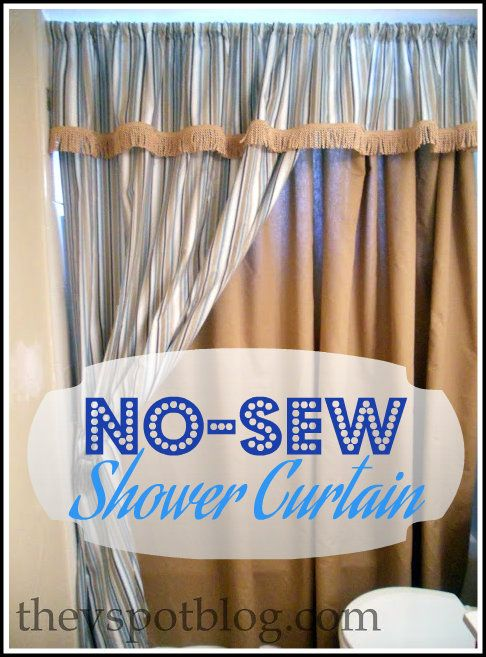 How to make a No-Sew Shower Curtain (aka I have a close, personal ...