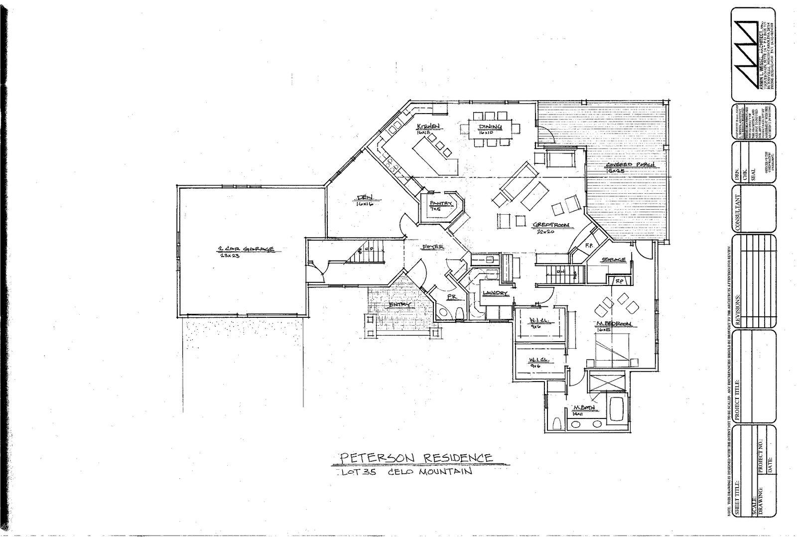 Scan Peterson Architectural Plansg Cad Drawings