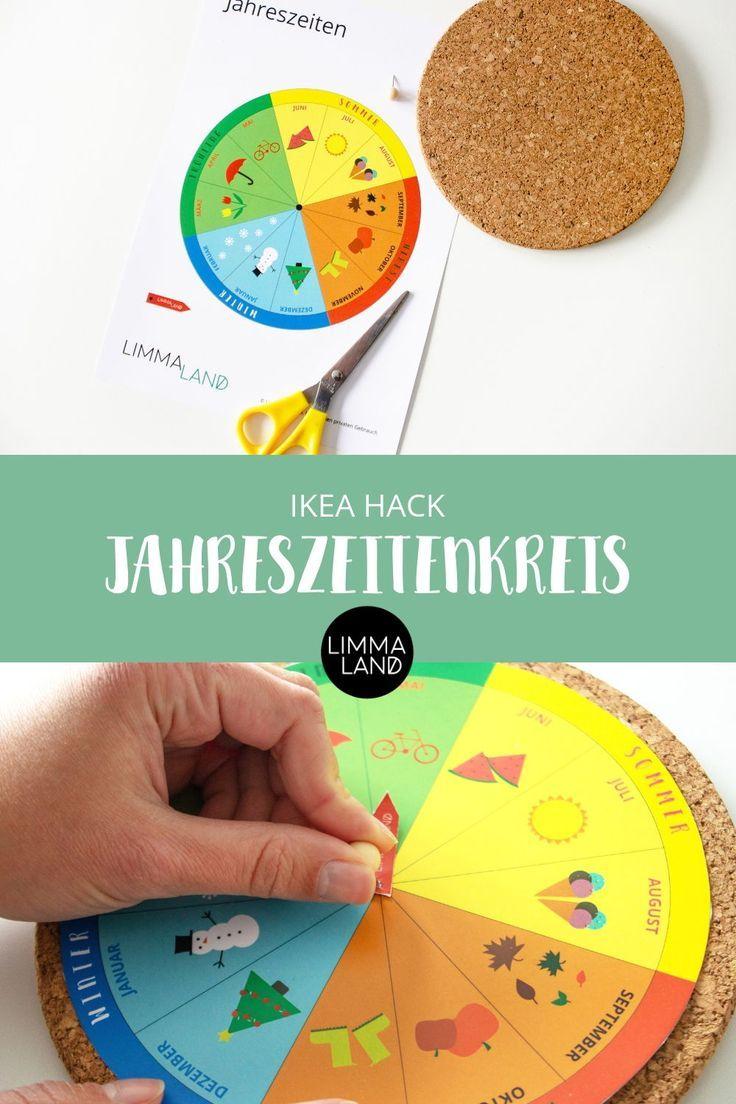 jahreskreis für kinder basteln  kostenlos zum download