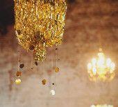 mylar-fringe chandeliers