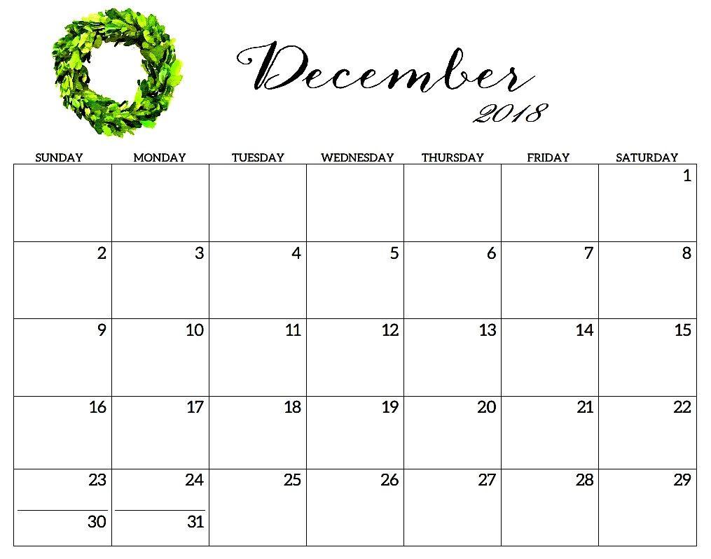 December 2018 Calendar Template Online December2018calendar
