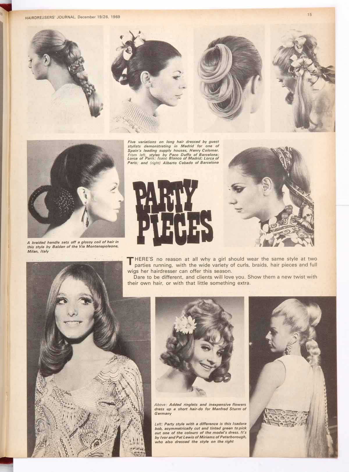 Vintage womens hairstyle from HJ dating back to the s