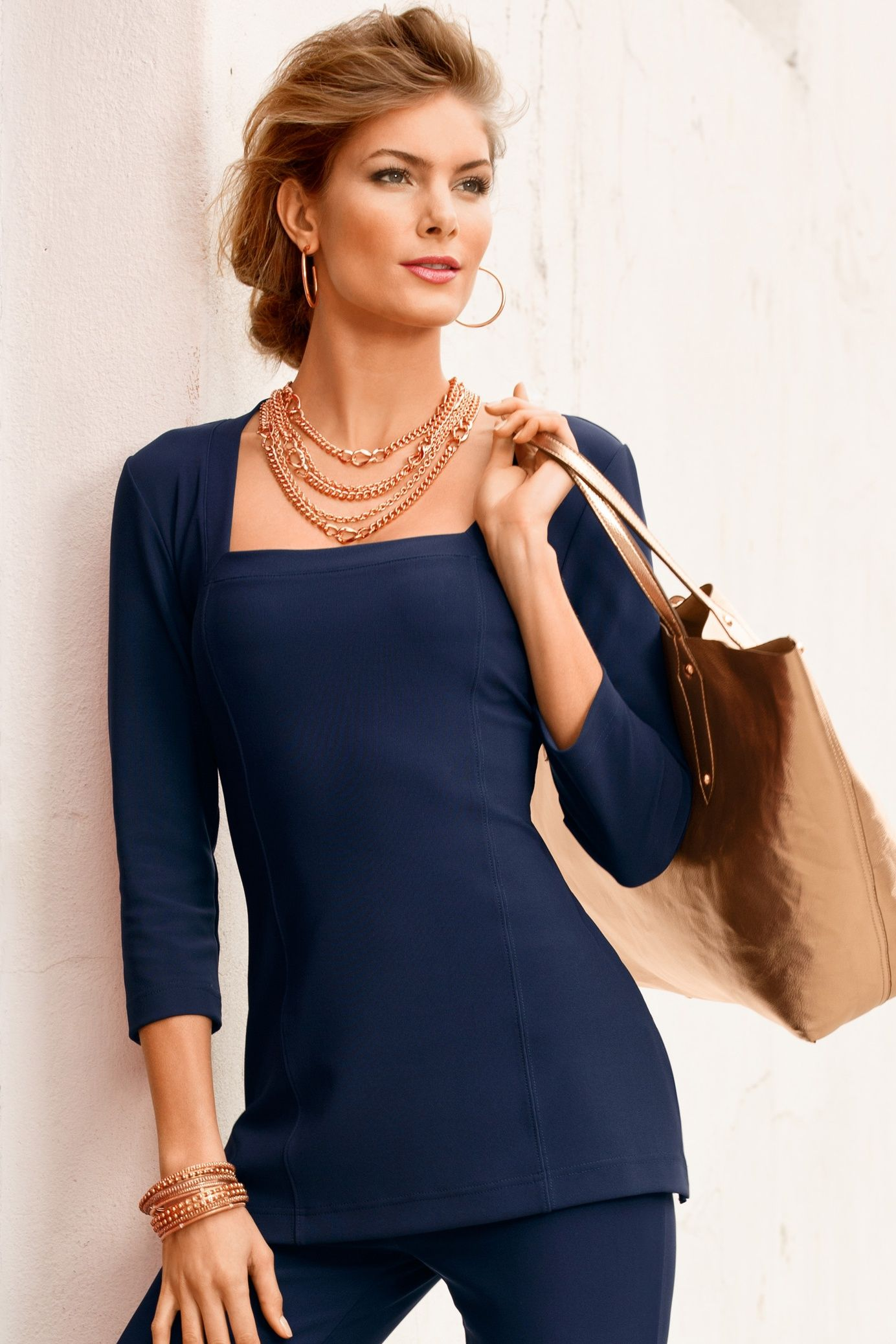 4466e8b6852 Low-key weekends call for equally relaxed dressing and this longer length  tunic with three-quarter sleeves slims and packs without a wrinkle so you  look ...