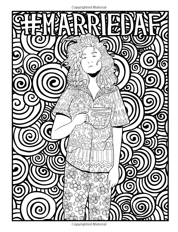 Married Life A Snarky Adult Coloring Book Unique Funny Antistress Gift