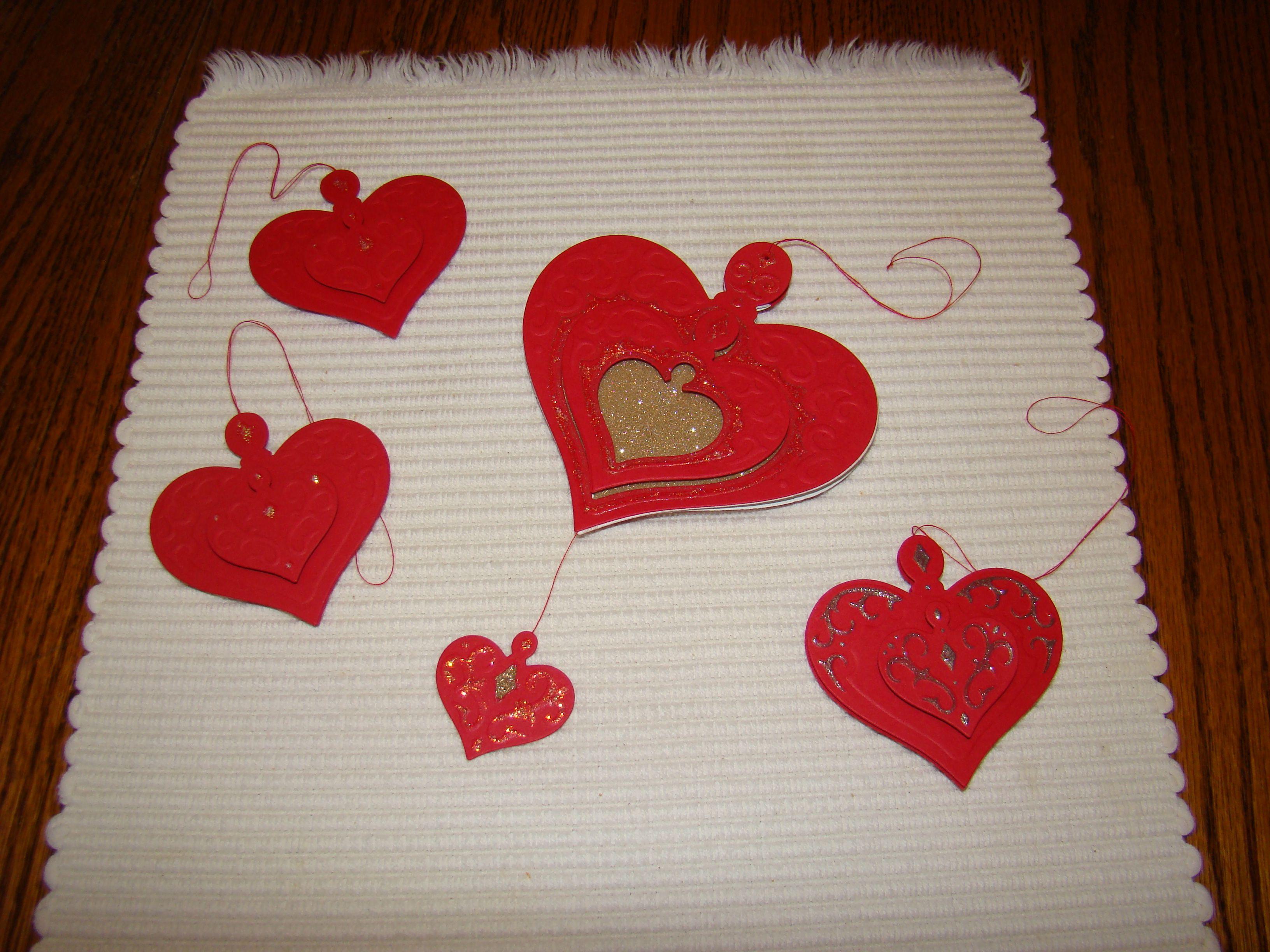 Christmas heart ornament card 2010