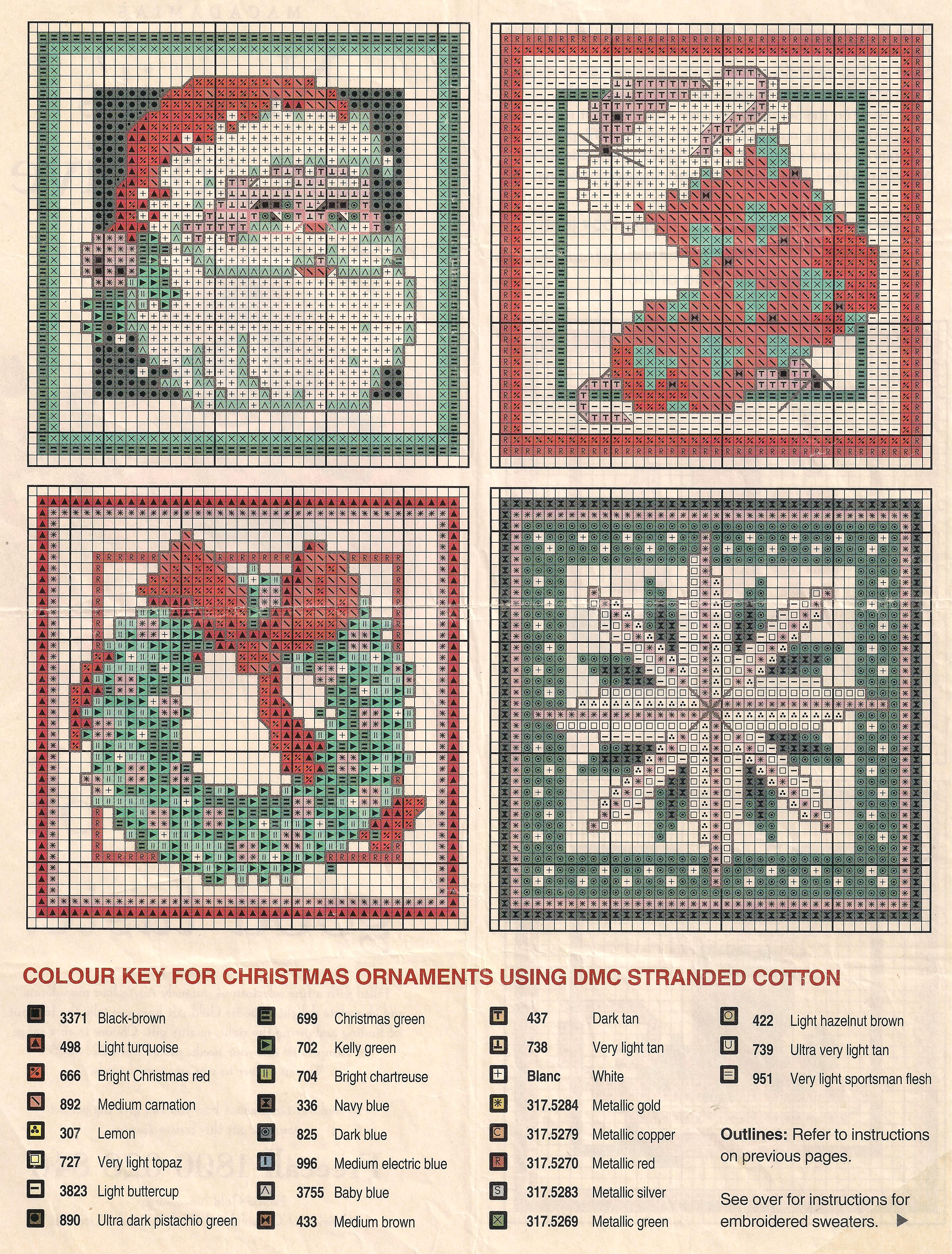 Christmas squares. back these with a deep Christmas green material ...