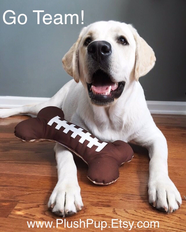 Football Dog Bone Toy Www Plushpupinc Etsy Com Dog Bone Toy Dog