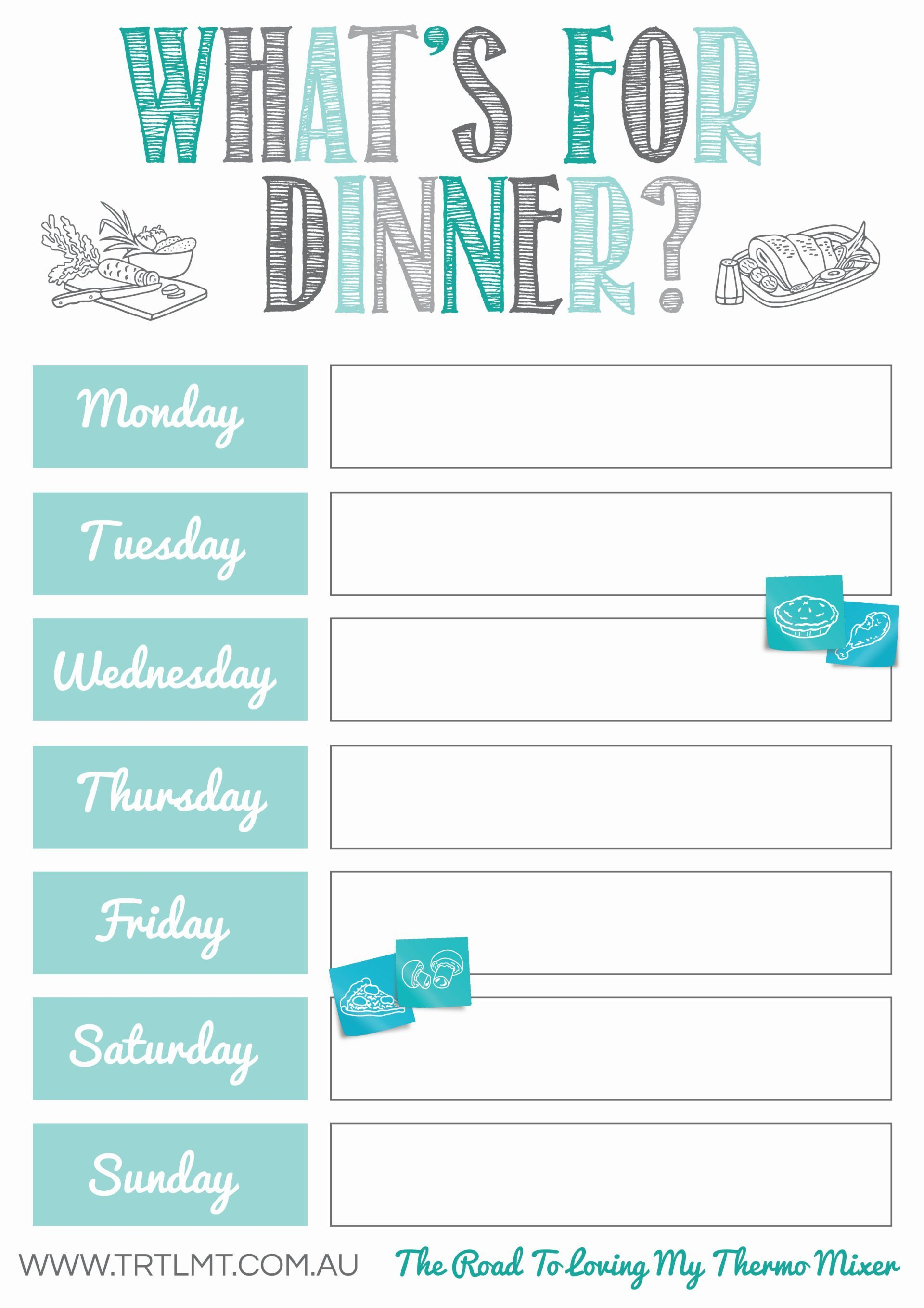 Thermomix free printables what's for dinner? weekly