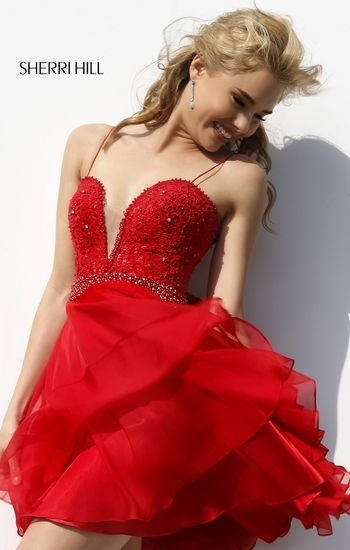 Sherri Hill 11307. Prom DressesWedding DressesDresses With LaceDresses 2016Short  DressesRed ...