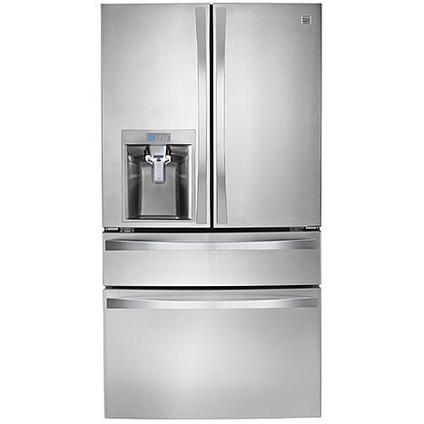 Kenmore Elite 29 9 Cu Ft 4 Door Bottom Freezer Refrigerator W Dispenser Best Refrigerator French Door Refrigerator Refrigerator