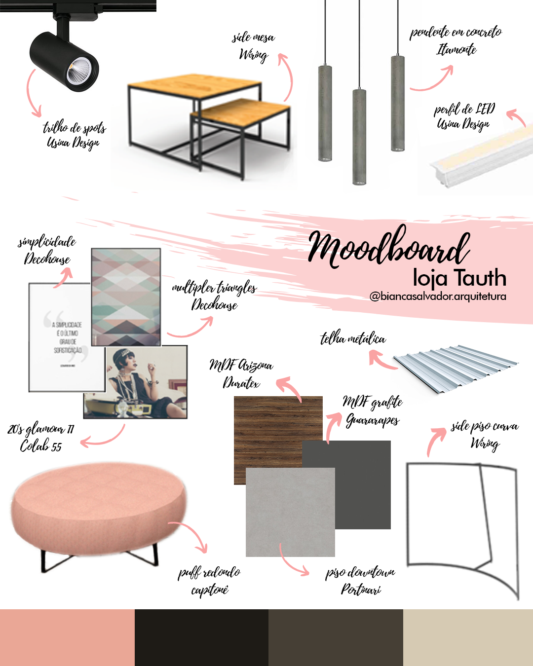 Moodboard Loja Tauth Loja De Design De Interiores Escritorios De Design De Interiores Interiores Comerciais