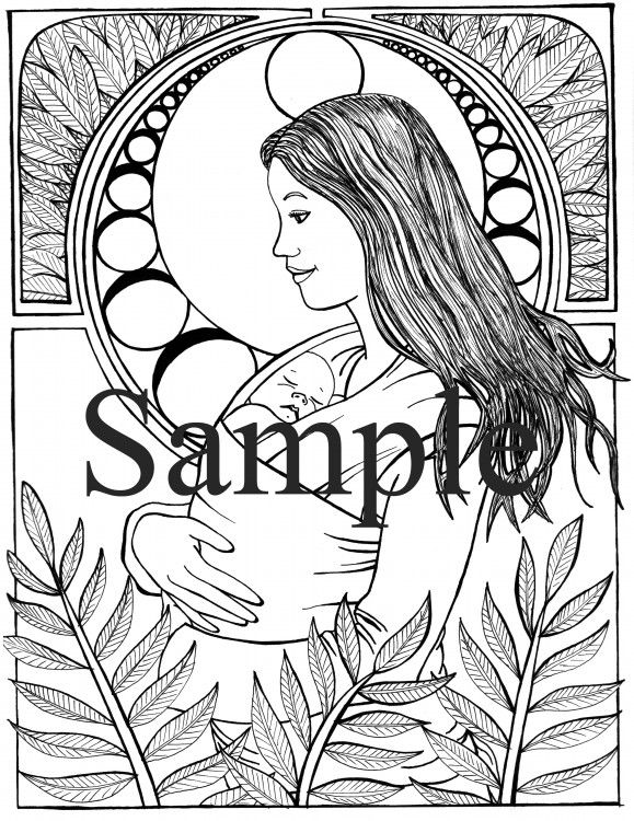 Single Coloring Pages Available | Babywearing and Pregnancy