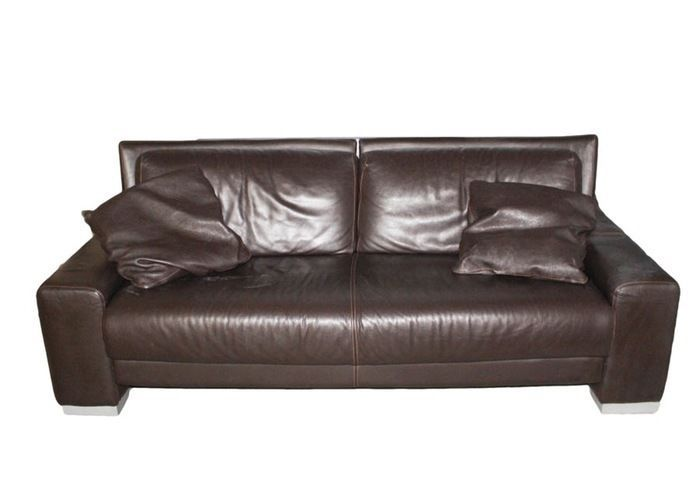 Genuine Nicoletti Italian Leather Three Seat Sofa Armchair And