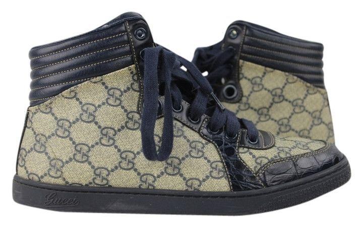 49c41033b28 Sneaker Crocodile Alligator Trim Blue Supreme Monogram Canvas Athletic –  Bagriculture