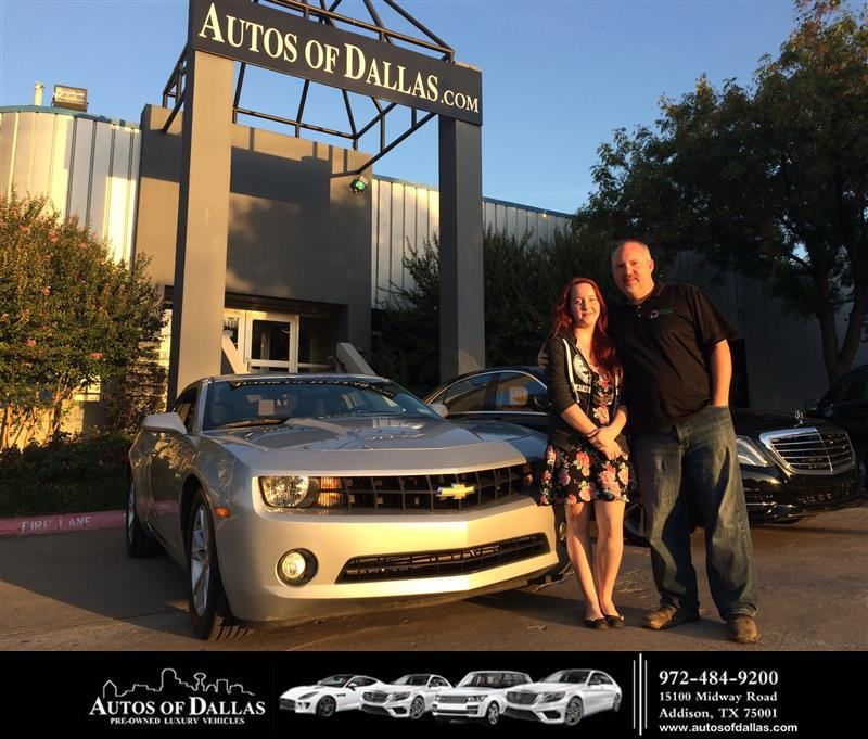 Congratulations Walter on your Chevrolet Camaro from
