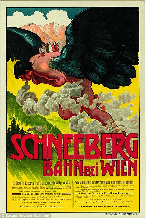 This colourful Schneeberg advert could sell for as high as £4,800...