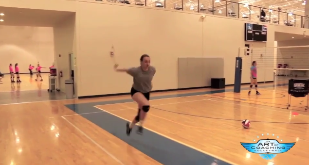 Practicing A 2 Step Approach Can Help Your Hitting The Art Of Coaching Volleyball Coaching Volleyball Volleyball Practice Volleyball Drills