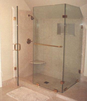 Sloping Angled Shower Door Enclosure | Shower Doors | Pinterest ...
