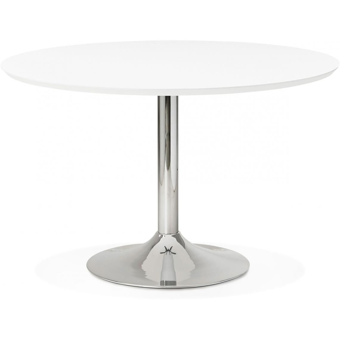 Table A Manger Ronde Blanche Pied Metal D120 Howie Table A