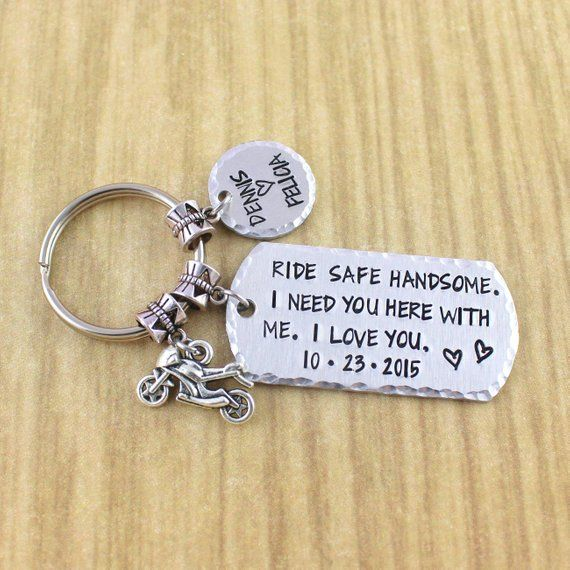custom motorcycle keychain personalized motorcycle gift for