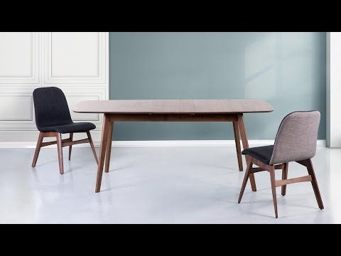 Étkezőasztal - konyhaasztal - kihúzható - gumifa - barna - 150 ...