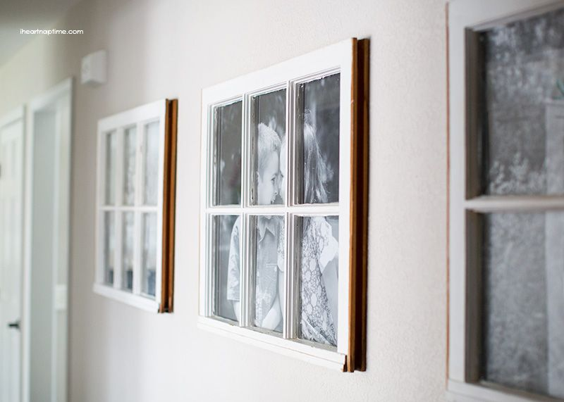 diy antique window picture frame great use for old windows cost less - Window Picture Frames