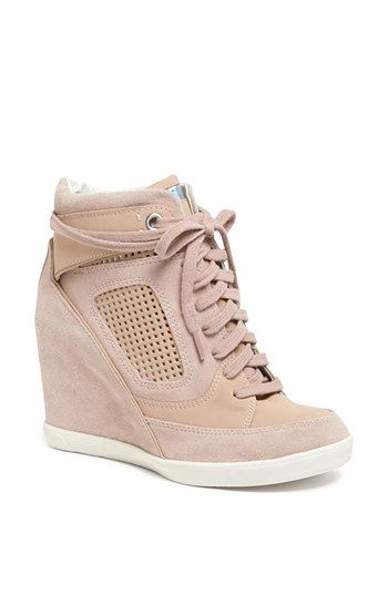 brand new 08b49 bd0f6 French Connection Marla High Top Wedge Sneaker available at Nordstrom  inlove