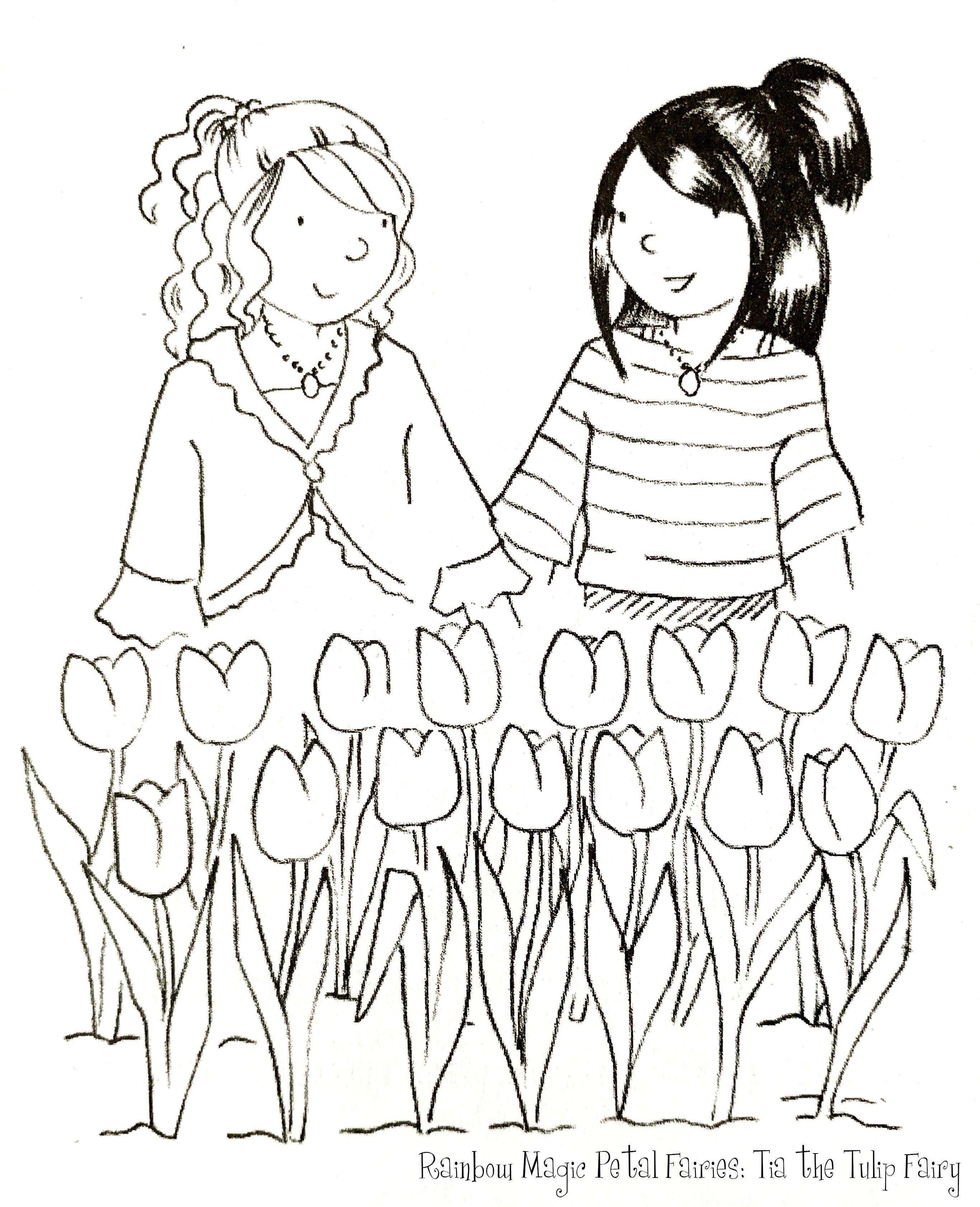 Rainbow Magic Petal Fairies Tia The Tulip Fairy Coloring Page