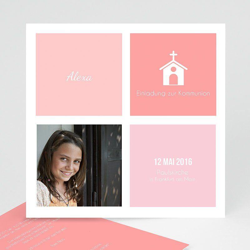 einladungskarten kommunion mädchen - kirche 40521 thumb