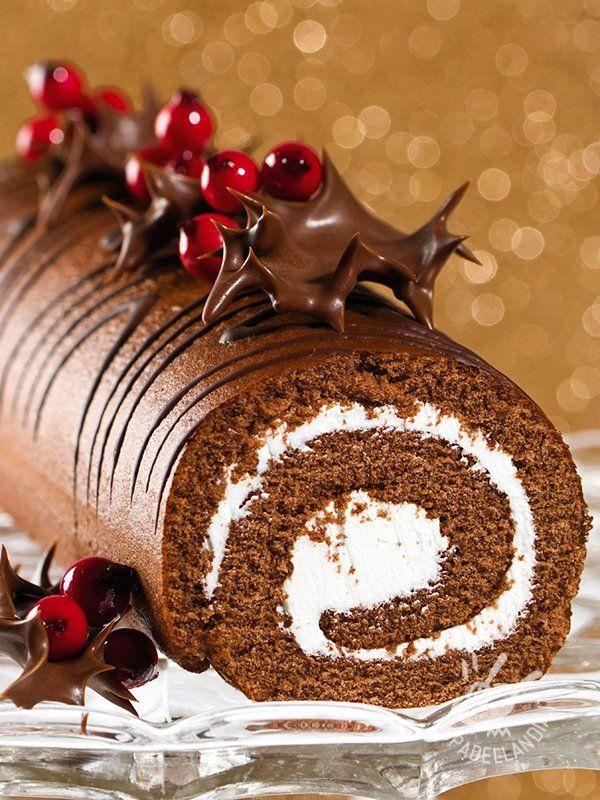 Tronchetto Di Natale Con Ricotta E Cioccolato.Rotolo Dolce Di Cioccolato E Cocco Ricetta Dolci Torte Invernali E Cioccolato