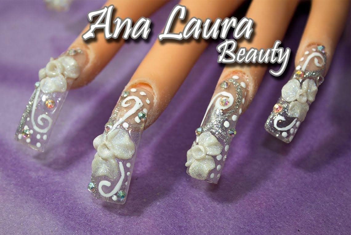 Uñas de novia | Uñas de acrílico para novia | bridal nails | t ...