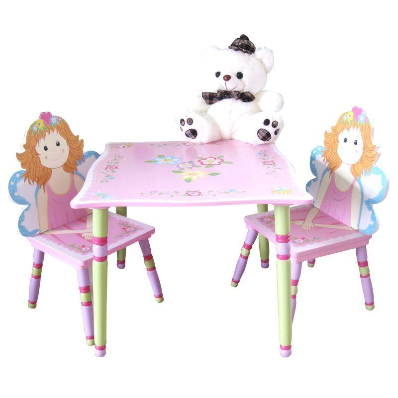 Kids Toddler Fairy Garden Themed Table Chair Set Wooden Hand Wooden Table And Chairs Chair Set