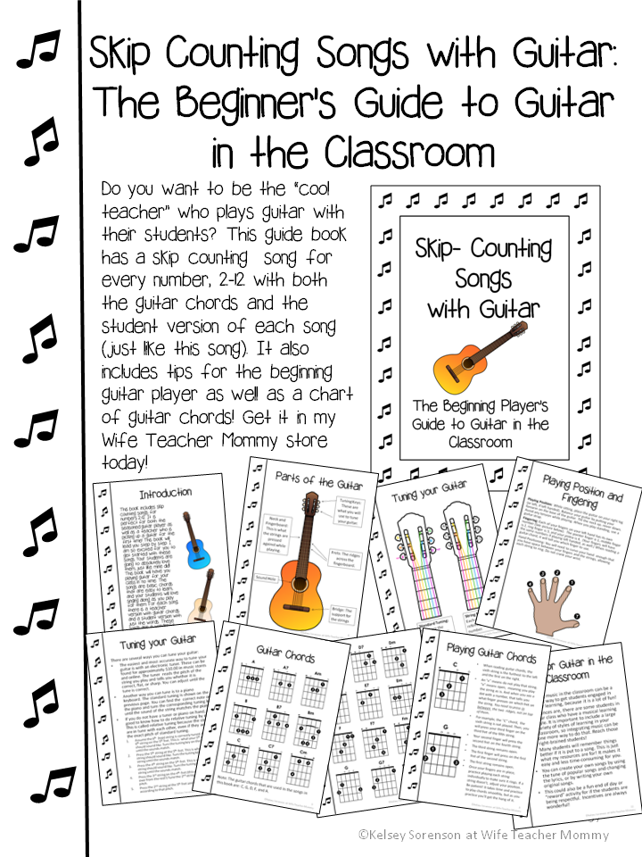 Skip counting songs WITH guitar chords for teachers! What better way ...