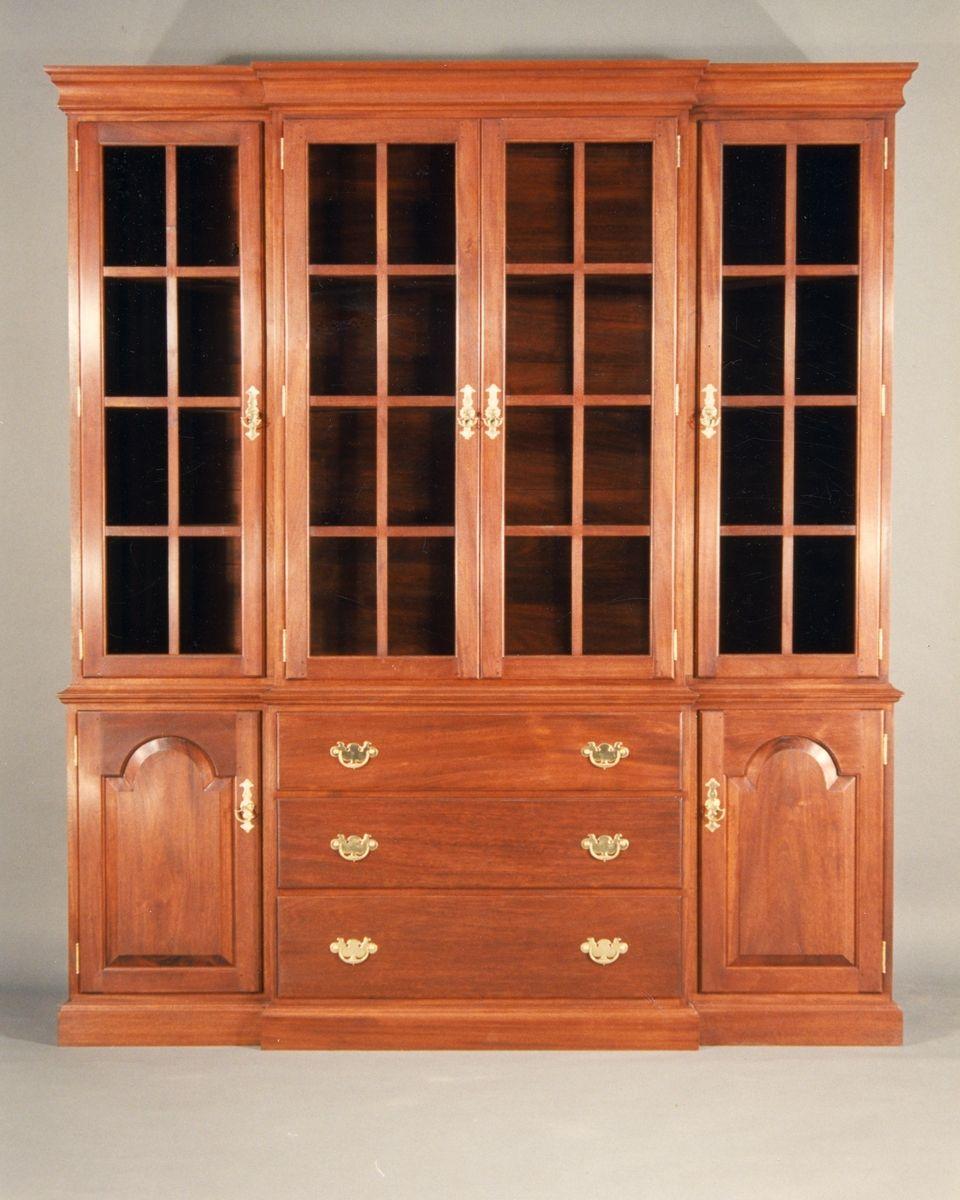 breakfront mahogany china cabinet home pinterest china cabinet rh pinterest com