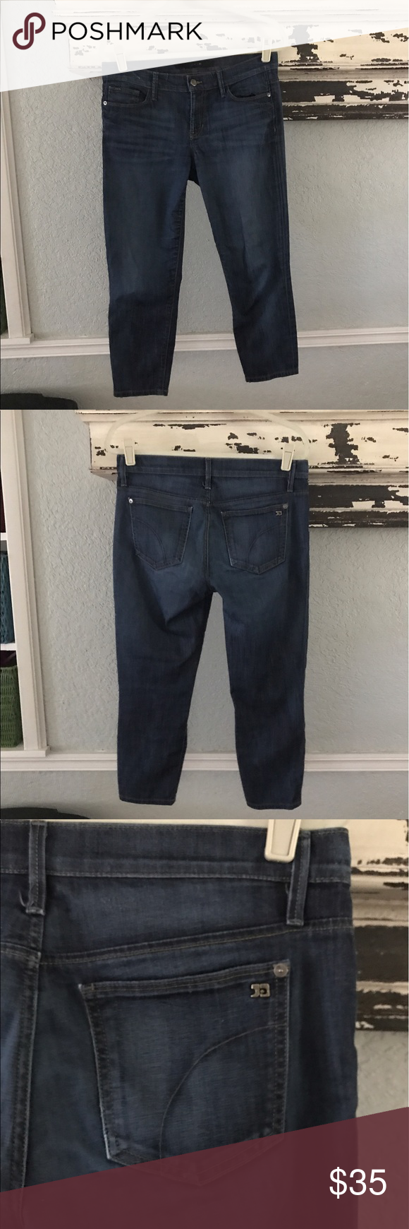 Joes jeans skinny Jackie Capri Good preowned condition. Superrrr soft and lightweight. It's supima cotton. Perfect for summer Joe's Jeans Jeans