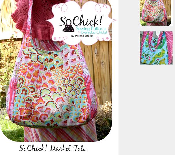 So Chick Market Tote Bag & 241 Tote Bag Sewing Patterns (Bonus Pattern)
