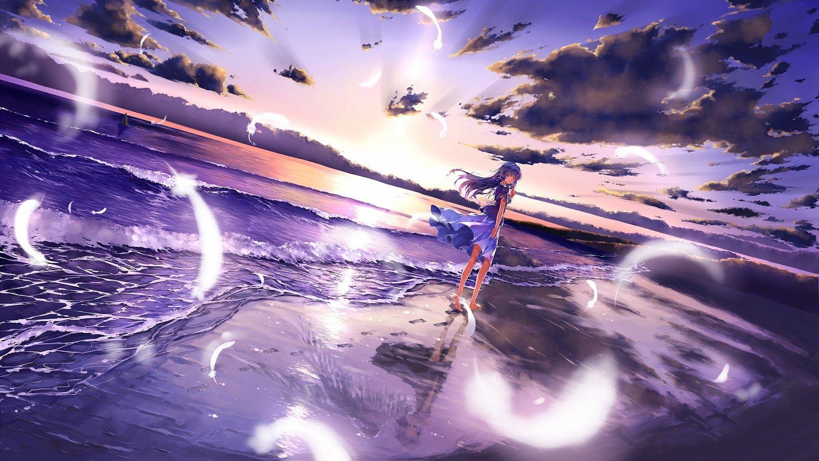 anime girl beach | art | pinterest | girl beach, anime and anime people