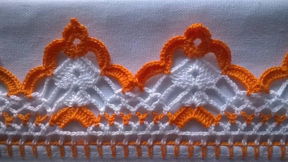 Encontrada Na Net Via Jussara Fernandes Bico De Croche Bicos De