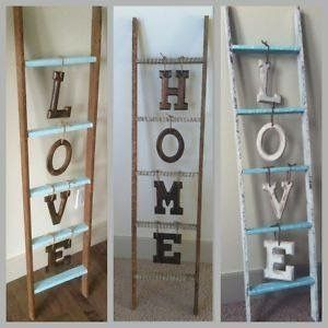 Ladder Signs With Letters From The Craft Or 1 Store Wood Ladder Decor Ladder Decor Country House Decor