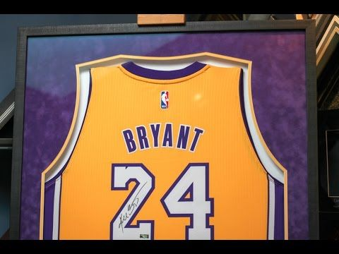 Framing A Signed Kobe Bryant Lakers Jersey Kobe Bryant Bryant Lakers Kobe