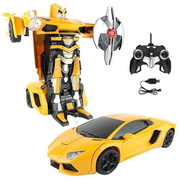 Yellow Remote Control Lamborghini Car Transformer Camaro Car Car Lamborghini Cars