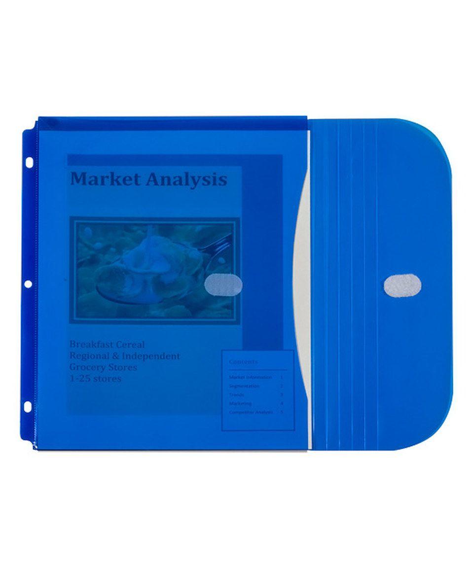 Love This Side-Loading Five-Pack Gusset Binder Pocket Set