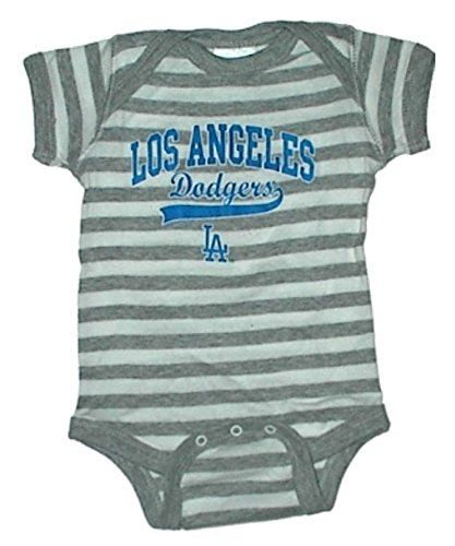 Los Angeles Dodgers Striped Mlb Newborn Baby Creeper Usa Printed 06