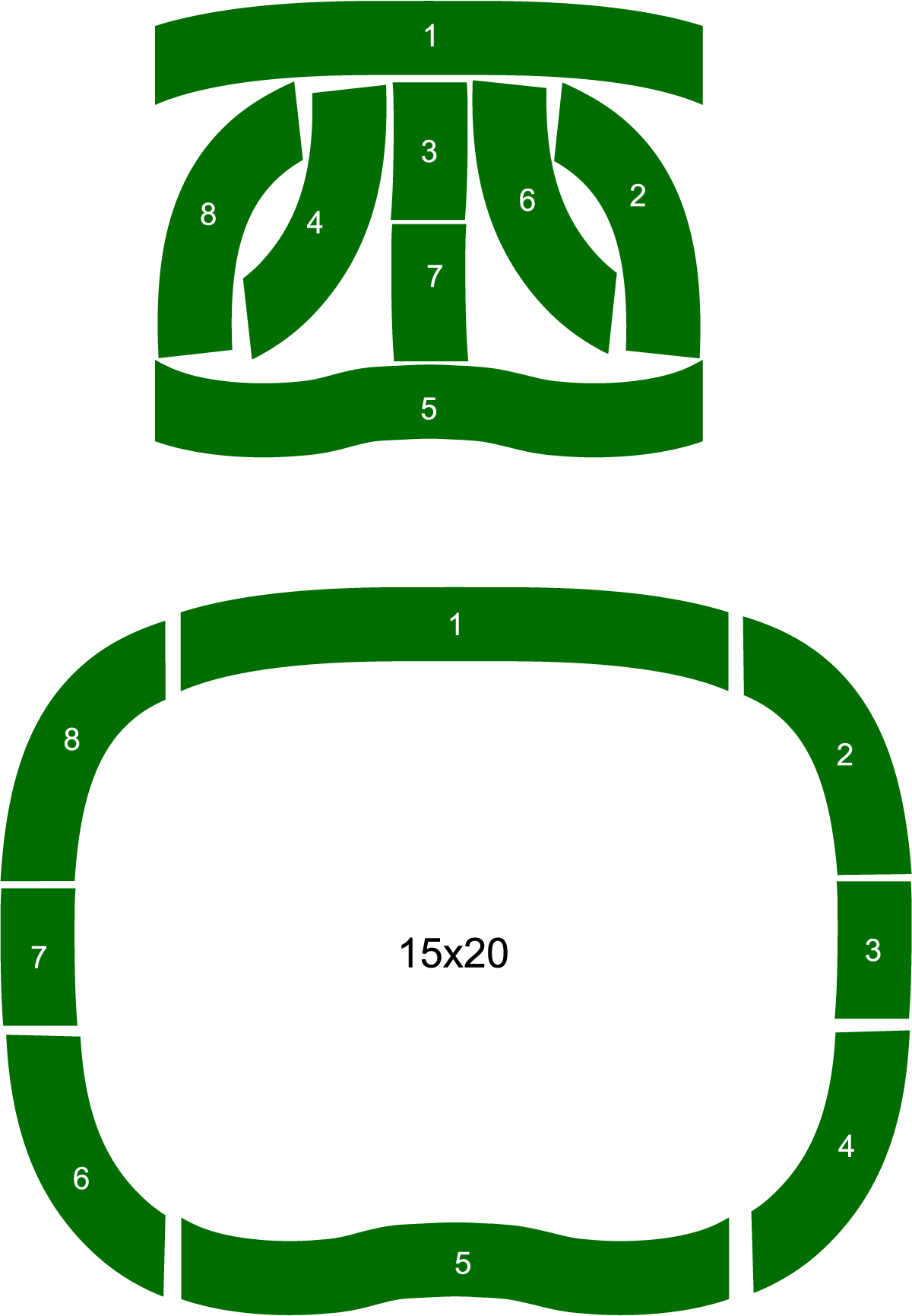 19' x 24' Pro 5-Hole Backyard / Indoor Putting Green w/Border