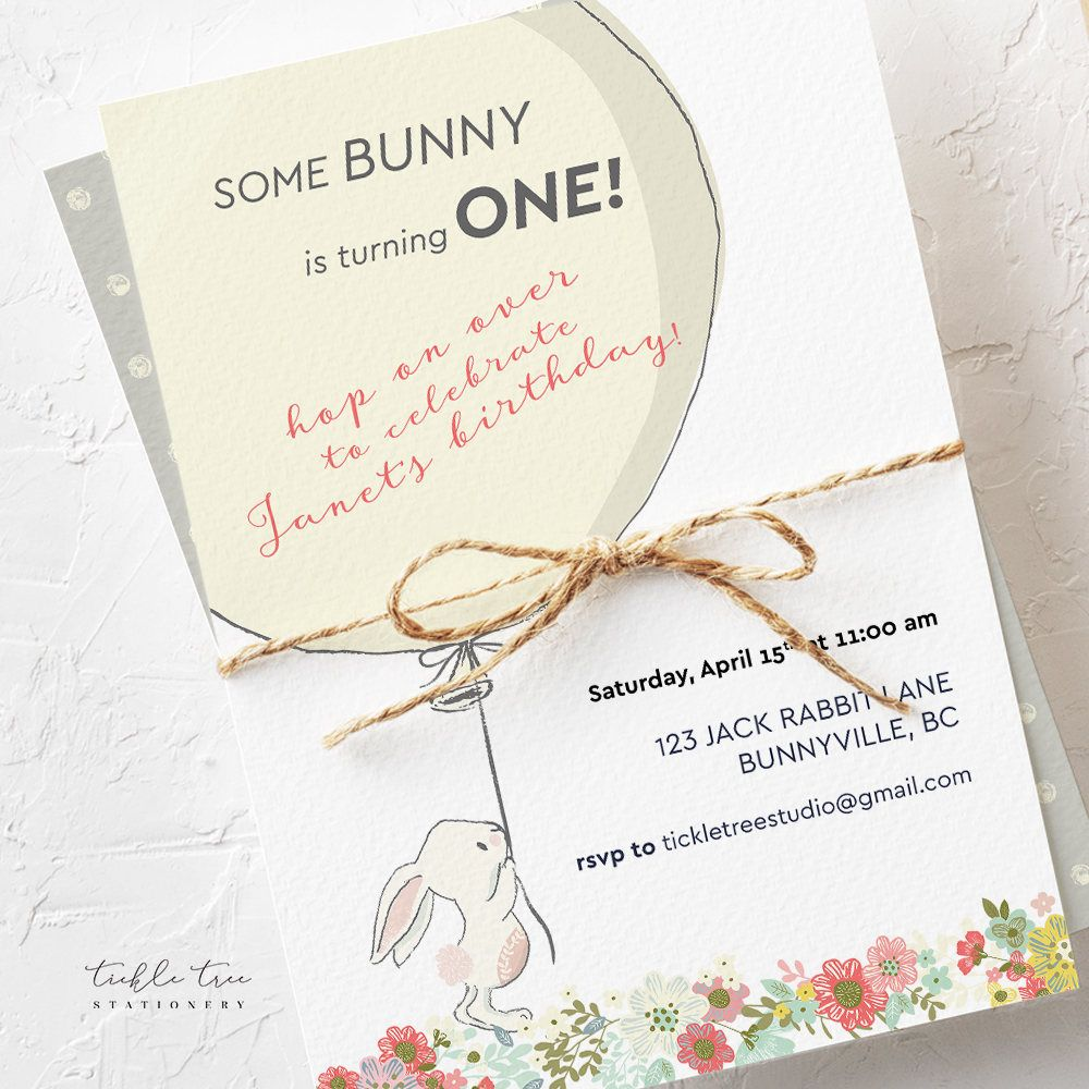 Birthday Party Invitations - Some Bunny is Turning One (Style 13641 ...