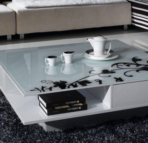 Tavolini da salotto in legno moderni - Tavolino da salotto bianco