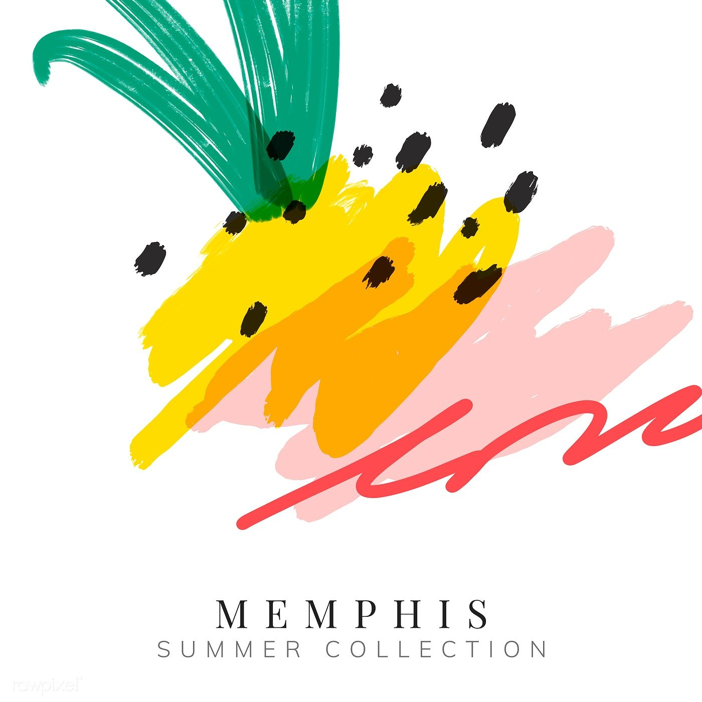 Colorful memphis summer background vector free image by